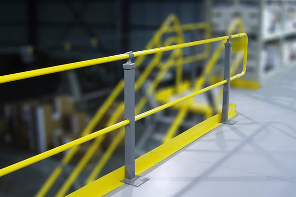 Mezzanine handrail railing wildeck