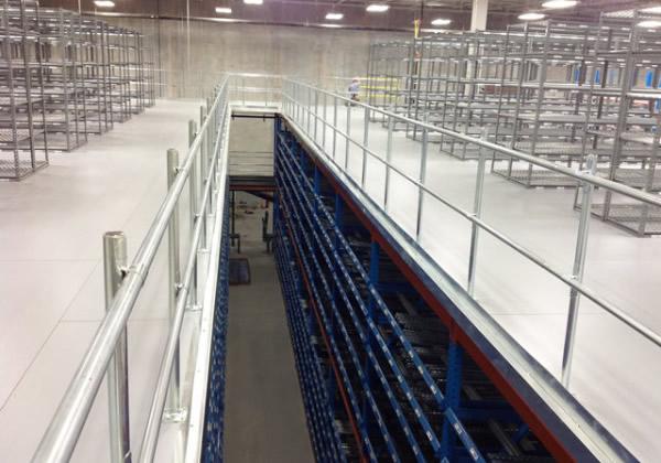 Safety Rails For Mezzanine : Mezzanine handrail railing wildeck