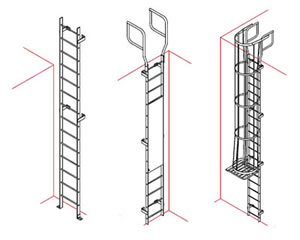 Vertical Access Ladders Cage Ladder Wildeck