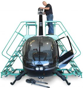 Robinson helicopter work stands