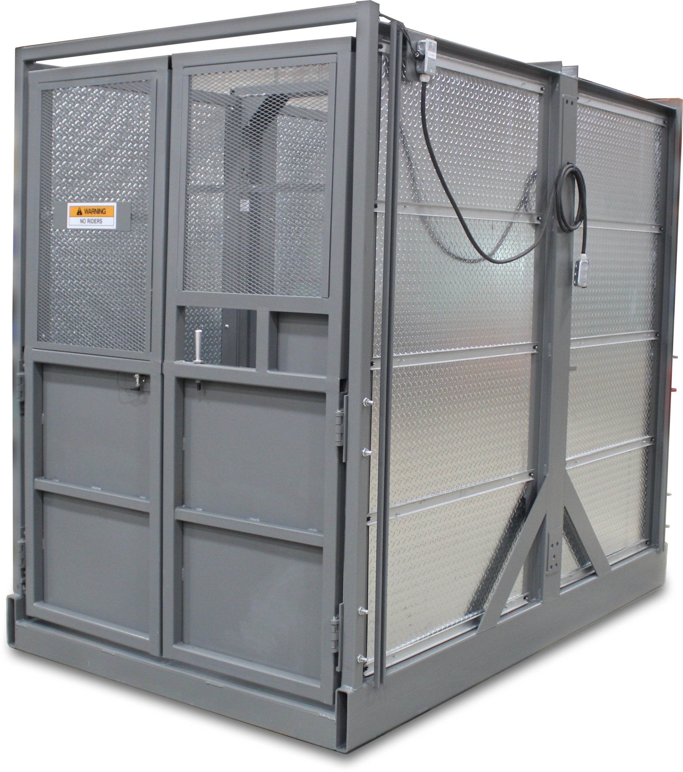 Custom CargoLok™ gate with expanded metal upper gate panels