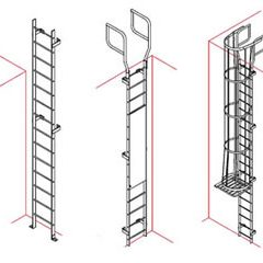 Vertical Fixed Ladder Configurations